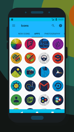 لالروبوت Color Paper - Icon Pack تطبيقات screenshot