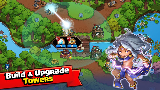 Crazy Defense Heroes: Tower Defense Strategy Game apktram screenshots 2