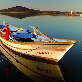 A Boat in Cunda by Arda Erlik - Transportation Boats ( cunda, turkey, boat, island )