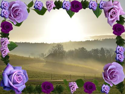 Roses Flower Photo Frame - náhled