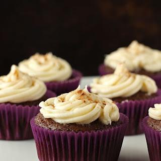Vegan Chocolate Cupcakes with Cinnamon Cream Cheese Frosting.