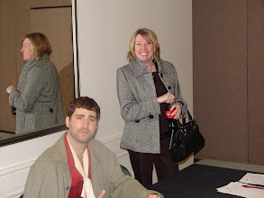 Photo: Adam Moons and the ever-smiling Christine Kemp