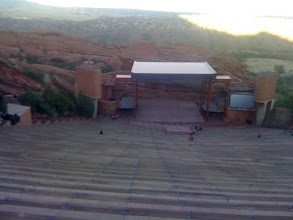 Photo: On the way to Cali, Amy and Marty checked out the Red Rock Amphitheater in Denver. On the way back, Aaron got to see it too.
