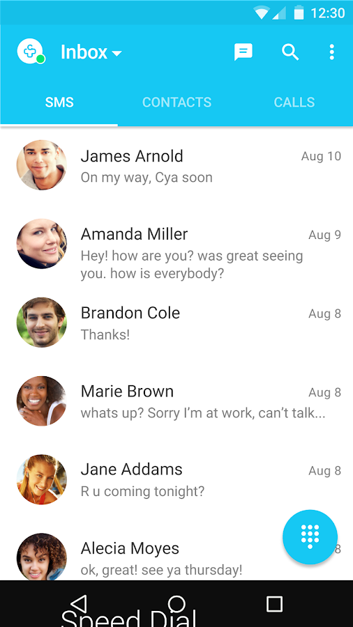 Messages + SMS- screenshot