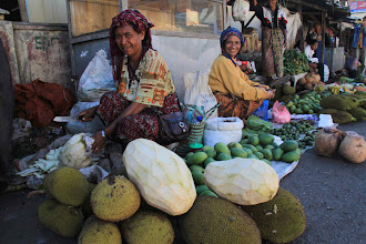 Photo: Market in Bajawa, filled with smiling people everywhere, is one of the cleanest markets in the eastern part of Indonesia. Jackfruit is one of the local produce sold to make tasty homemade soup http://www.indonesia.travel