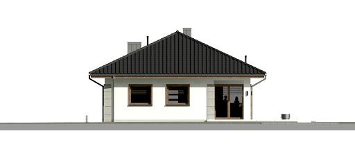 Dom przy Pastelowej 18 - Elewacja tylna