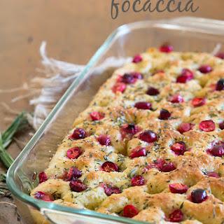Cranberry Rosemary Focaccia