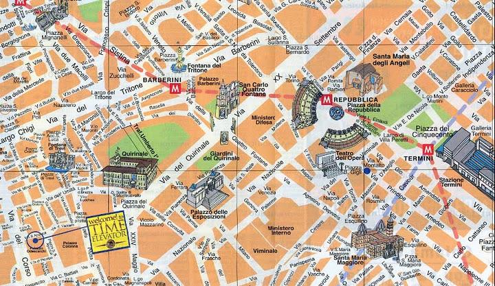 mapa turistico da cidade de roma ROMA guia básico e mapas | Viagem.decaonline.| Dicas de Viagem mapa turistico da cidade de roma