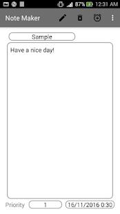 NoteMaker screenshot