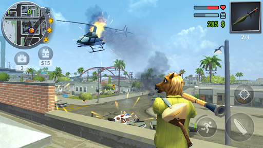 Gangs Town Story - action open-world shooter screenshot 2