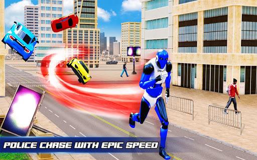 Grand Police Robot Speed Hero City Cop Robot Games 4.0.0 screenshots 8