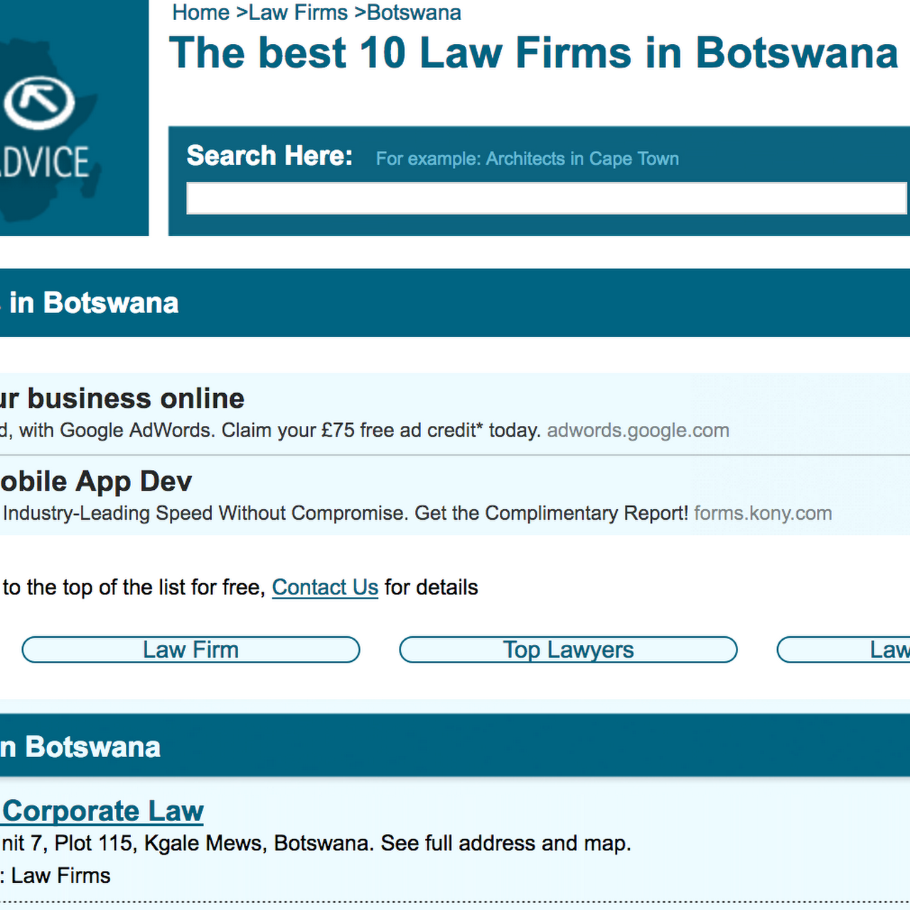 Bewlay Corporate Law - COMMERCIAL LAW FIRM IN GABORONE