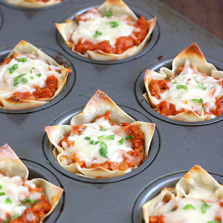 Muffin Tin Mini Lasagnas.