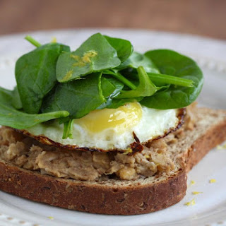 Baharat Bean Toast with Fried Egg