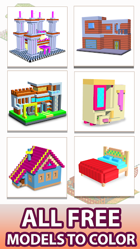 House 3D Color by Number - Voxel Paint, Coloring 4.3 screenshots 1