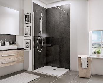 Paroi de douche, 90, 100 ou 120 cm, fixe à l'italienne Walk In