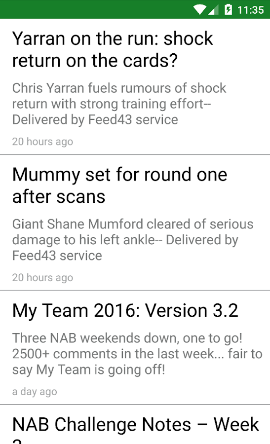 DTTalk News Feed- screenshot