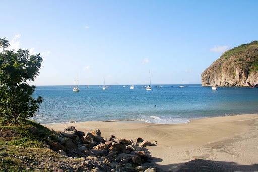 Montserrat-Little-Bay - Little Bay Beach on the island of Montserrat.