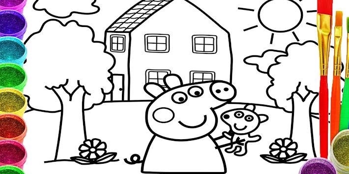 Coloring Book Peppa Pig Paintbox Peppa Pig Apk 110223002 Free