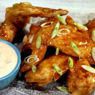Crispy Ginger Thai Wings.