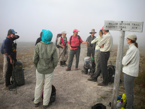 """Photo: Saturday morning (August 17, 2013) This is the group just before going onto the """"Pumice Plain"""" - Ecologist, John Bishop in red"""