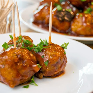 Sriracha Honey Turkey Meatballs.