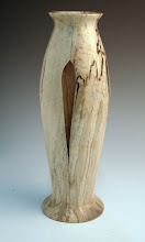 "Photo: Richard Webster - Inside Out Vessel - 8.5"" x 2.5"" - spalted maple"