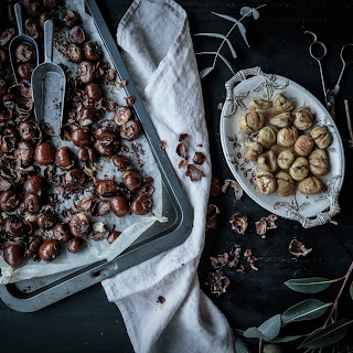 DIY Roasted Chestnuts with Sweet Cinnamon Butter