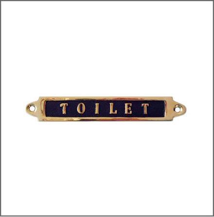 Mässingsskylt - Toilet
