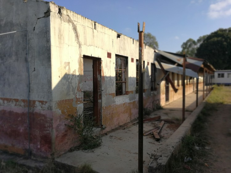 The old Vhafamadi High School was destroyed by fire during protests that swept through the Vuwani area of Limpopo in 2015 and 2016.