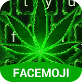 Neon Green Rasta Weed Keyboard Theme for Android
