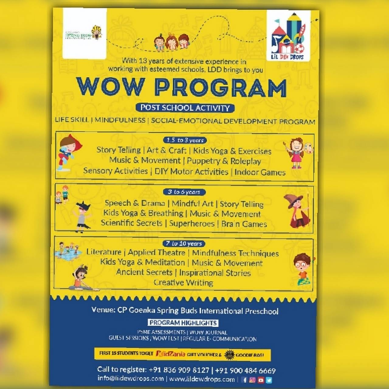 LiL Dew Drops - Life Skill Excellence Program for Kids