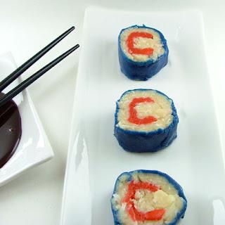 Chicago Cubs Dessert Sushi.