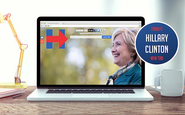 Hillary Clinton Tribute New Tab