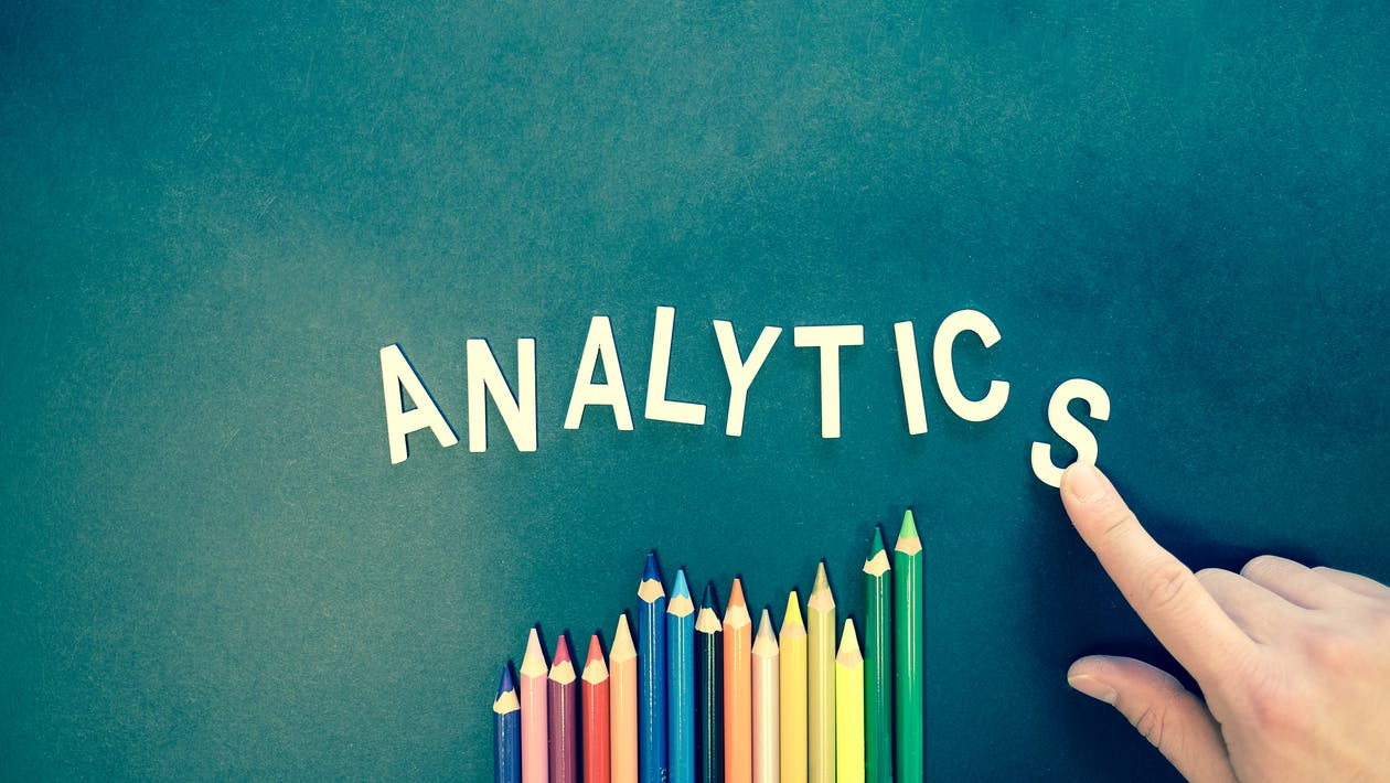 Retail analytics on a chalkboard