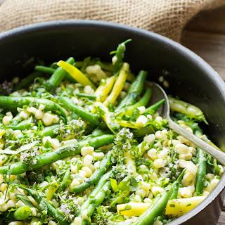 Summer Corn + Green Beans with Herb Butter.