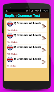 English Grammar Test All Levels - náhled