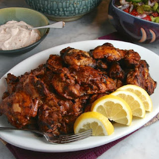 Grilled Chicken Thighs with Chile-Yogurt Sauce