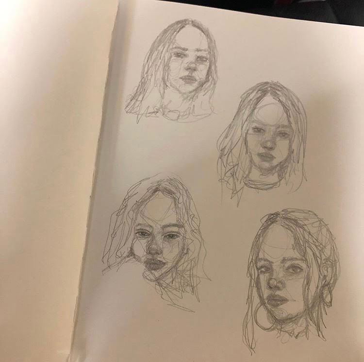 seulgi art billie eilish