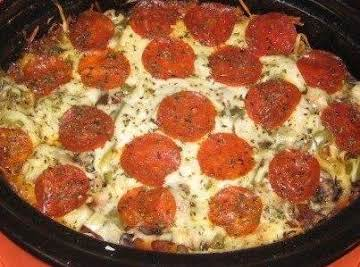 Crock Pot Pizza Pasta