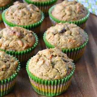 Carrot + Zucchini Oat Muffins Recipe