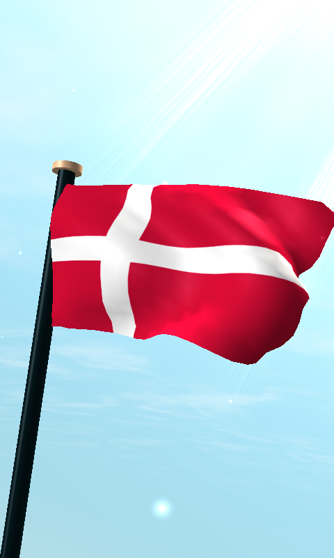Скриншот Дания Флаг 3D Бесплатных Обои