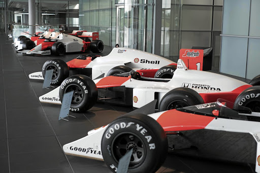 Motorsport icons in the form of championship-winning McLaren F1 cars that were driven by the likes of Senna and Prost.  Picture: CHRIS BROWN/BEADYEYE