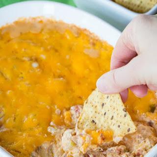 Cheesy Hot Jambalaya Dip.