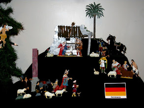 Photo: I liked the German nativity best - painted on metal, very exacting.