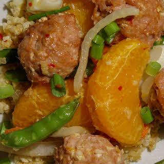 Asian Stir Fry with Turkey Meatballs.