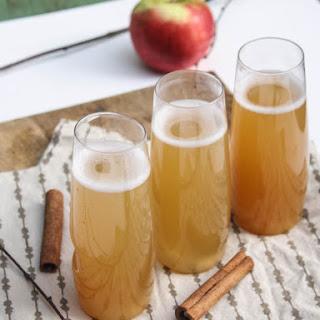 Spiced Apple Cider Champagne Cocktails.