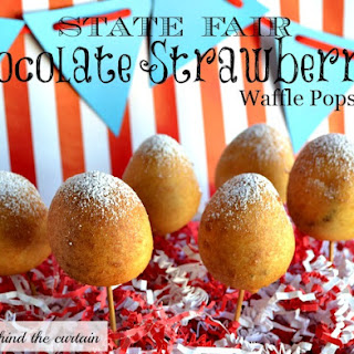 State Fair – Chocolate Strawberry Waffle Pops