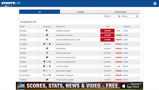 SportsLive: Watch & Listen 1.0.5 screenshots 6