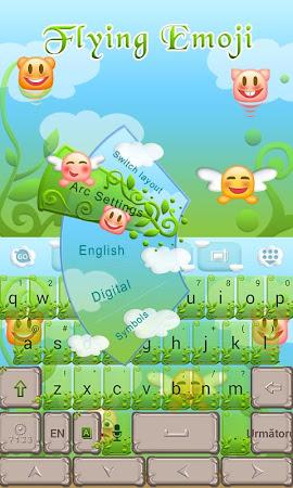 Flying Emoji GO Keyboard Theme 3.87 screenshot 662632